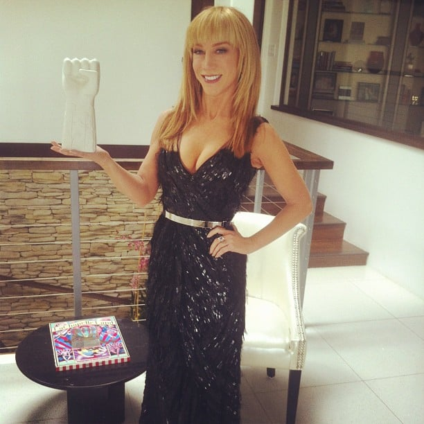 Kathy Griffin prepped for music's biggest night. Source: Instagram user KathyGriffin