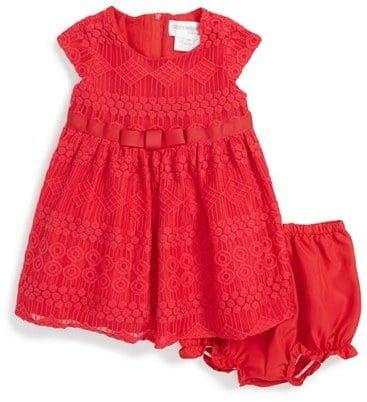 Us Angels Cap Sleeve Lace Dress & Bloomers