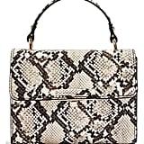 Topshop Mini Marissa Snake Embossed Top Handle Bag