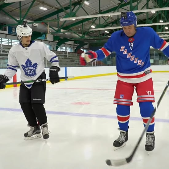 Watch Justin Bieber Teach Jimmy Fallon How to Play Hockey