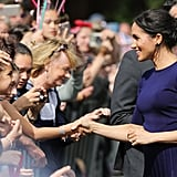 Meghan Markle Givenchy Pleated Skirt in New Zealand 2018