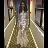 Ciara showed off her gorgeous Givenchy gown before heading to the show. Source: Instagram user ciara