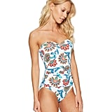 Tommy Bahama Fira Floral Bandeau One-Piece Swimsuit