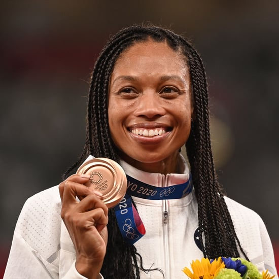 Allyson Felix Photo With C-Section Scar and Olympic Medals