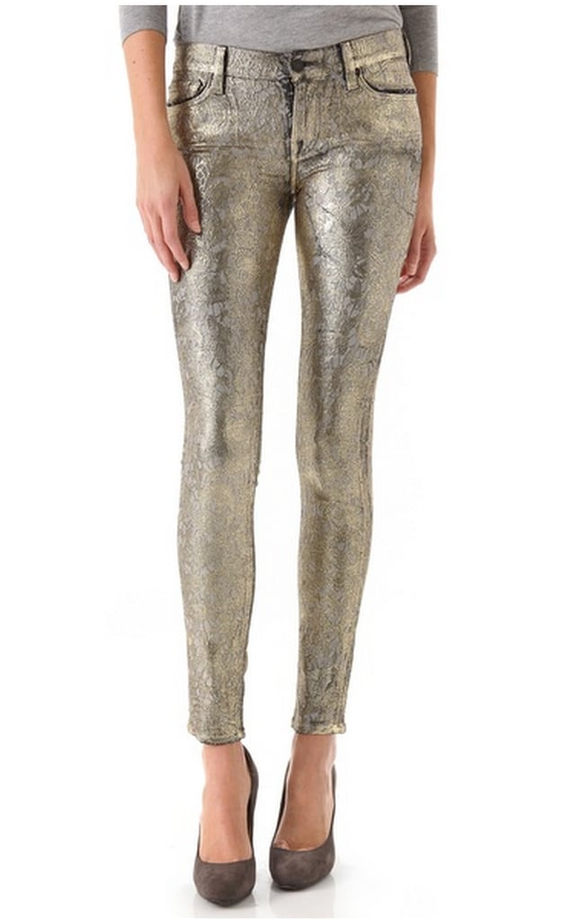 These rad 7 For All Mankind Metallic Jacquard Skinny Pants ($298) were made for the ultimate rocker girl. Are you her?