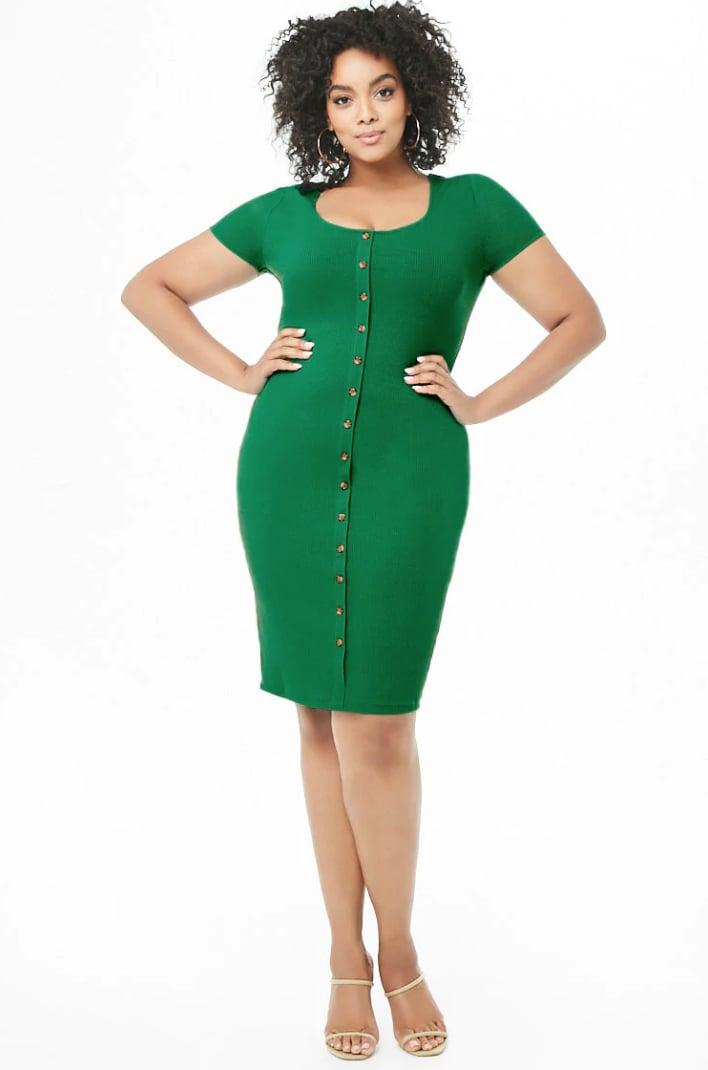 Forever 21 Plus-Size Mock Button-Down Dress | Wow! Priyanka ...