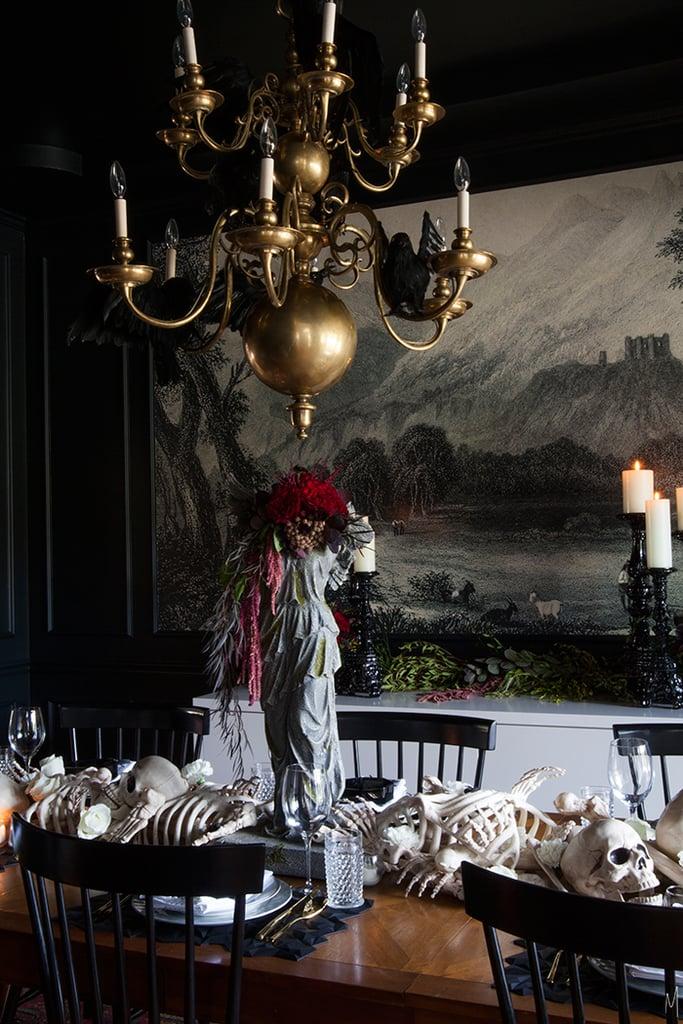 diy halloween bone table runner popsugar home. Black Bedroom Furniture Sets. Home Design Ideas