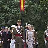 At a military event in Zaragoza, Spain.