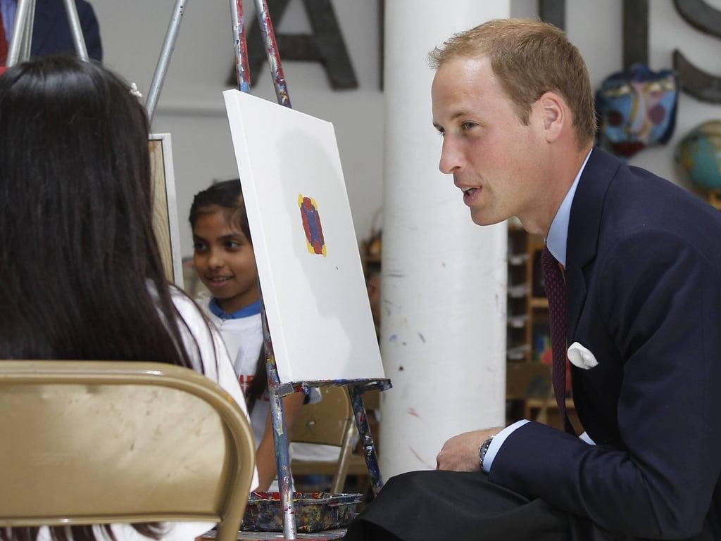Prince William at Inner City Arts in LA.