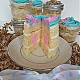 Gender Reveal Cake Jars
