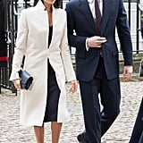 Meghan in Amanda Wakeley, March 2018
