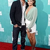 Jenna Dewan with Channing Tatum at the 2012 MTV Movie Awards.