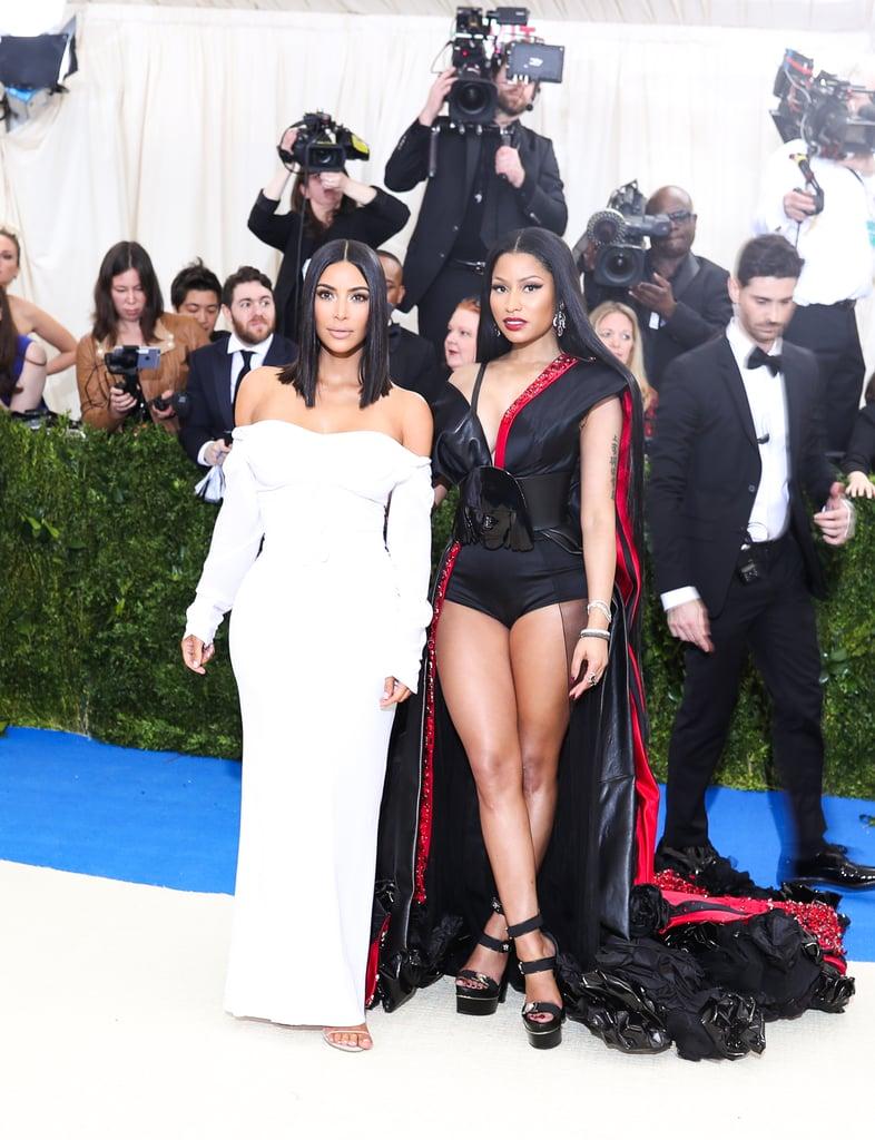 Pictured: Kim Kardashian and Nicki Minaj