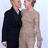 """""""She is so beautiful and so smart and so funny, and with her, I have that sense of 'I'm done now.' I'm settled. I know that part of my life is taken care of. I've got love. I've got someone who will be with me till the day I die."""" — Ellen on wife Portia de Rossi"""