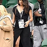 When she attended Wimbledon in 2016, Meghan wore a simple black dress.