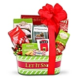 Alder Creek Gifts Let It Snow Gift Tower Christmas Gift Basket