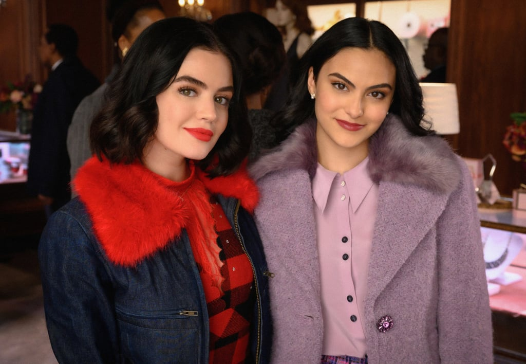 "Veronica Lodge is leaving the trials and tribulations of Riverdale to return to her old stomping grounds in NYC! Not permanently, of course, just for a delightful crossover episode introducing the star of Riverdale's upcoming spinoff series, Katy Keene.  Lucy Hale's titular character will guest star on the Feb. 5 episode of Riverdale in which Veronica (Camila Mendes) heads back to NYC and runs into her old friend. In one of the recently released photos, the two young women hold hands while having a serious looking chat in a bar. Another shows them inside Lacy's, the department store where Katy Keene is fabulously employed. To the surprise of absolutely no one, both Katy and Veronica look so chic, they're giving the original New York queen bees a run for their money! Executive producers Roberto Aguirre-Sacasa and Michael Grassi first announced the crossover episode back in December, with Aguirre-Sacasa also posting a behind-the-scenes shot of filming on his Twitter page. The news is out! Veronica's going to NYC and #Katykeene is coming to #Riverdale! So excited for our first #Archiverse crossover!! ❤️🎁💎📸✈️🎭🏆🔥👗👠🧶💃🏻👯‍♀️ pic.twitter.com/xXVMBTnltq— RobertoAguirreSacasa (@WriterRAS) December 4, 2019    ""Before Katy Keene officially premieres, we all thought it would be super-fun to do a crossover that took Veronica to Katy's world — New York City — and established Katy in the Riverdale universe,"" Aguirre-Sacasa and Grassi said in a statement. ""For our first Riverdale/Katy crossover, we couldn't be more excited that it's old friends Veronica and Katy—Cami and Lucy—having fun and heart-to-hearts!"" We have to admit, we're already loving the looks of it! Check out all the photos we've gotten of the Archieverse crossover episode ahead, and make sure to tune in for the Veronica/Katy reunion on Feb. 5. Then check out the premiere of Katy Keene on Feb. 6!"