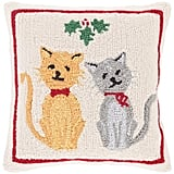 Christmas Cats Throw Pillow ($31, originally $36)
