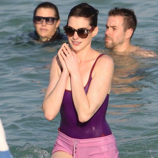 Anne Hathaway and Adam Shulman in Miami Beach