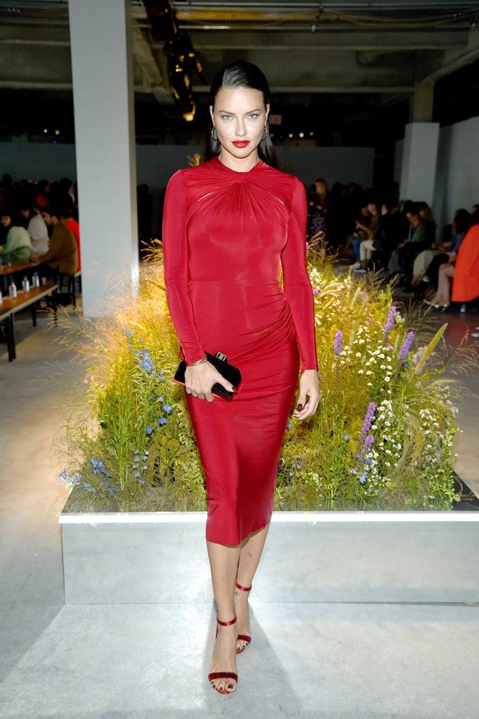 Adriana Lima at the Jason Wu New York Fashion Week Show