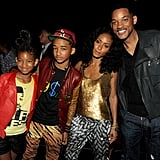 Pictured: Willow, Jaden, Jada, and Will Smith