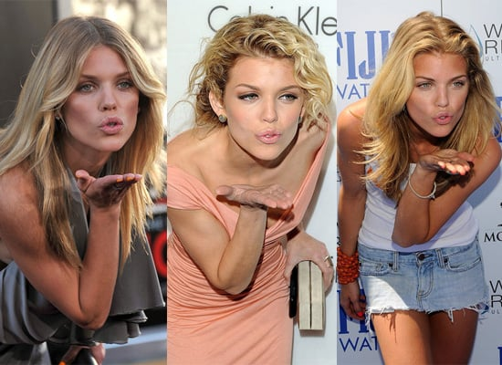 AnnaLynne McCord Sure Likes To Pose Blowing Kisses