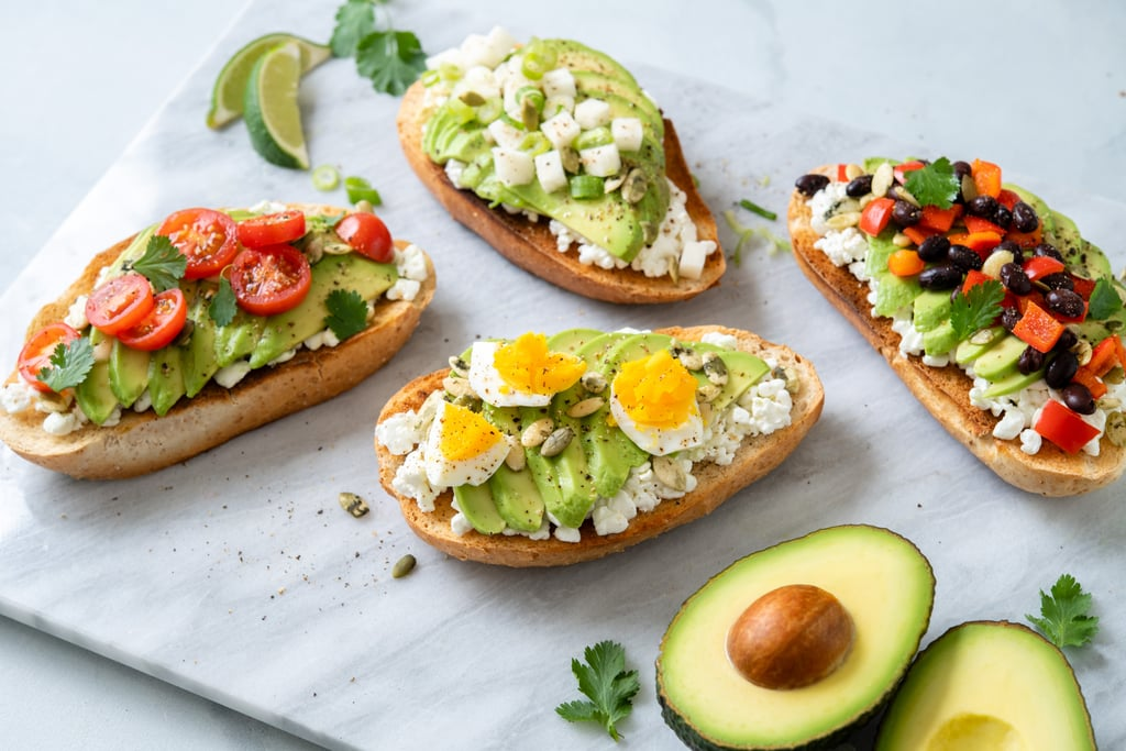 Open-Faced Traditional Bolillo With Avocado and Cottage Cheese
