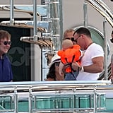 Elton John and David Furnish Take Baby Zachary Yacht Hopping in St. Tropez
