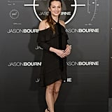 Alicia's Proenza Schouler minidress might have been black, but its off-the-shoulder cut was bold.