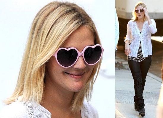 Drew Barrymore In Heart Shaped Sunglasses