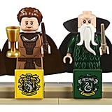 The set's four minifigures: Godric Gryffindor, Helga Hufflepuff, Salazar Slytherin, and Rowena Ravenclaw.
