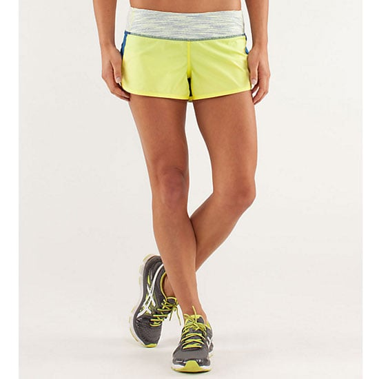 After some intensive office research, Lululemon was nominated on two counts — for their tank tops and their magical running shorts that somehow don't ride up. Like, ever. An in-built brief makes these great for yoga and bikram. And they're cute as heck. Shorts, $65, Lululemon