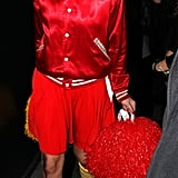 It was an all American look for Denise van Outen who dressed as a bloody cheerleader.