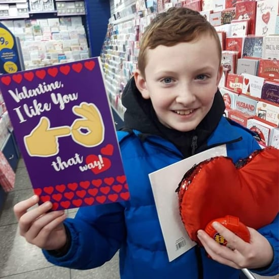 Boy Picks Out Inappropriate Valentine's Day Emoji Card