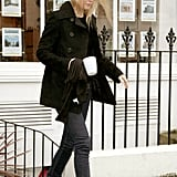 Gwyneth Paltrow Wearing a Black Jacket and Flats