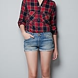 This Zara Studded Checked Shirt ($80) marries the best of both the edgy (via studs) and the preppy style worlds.