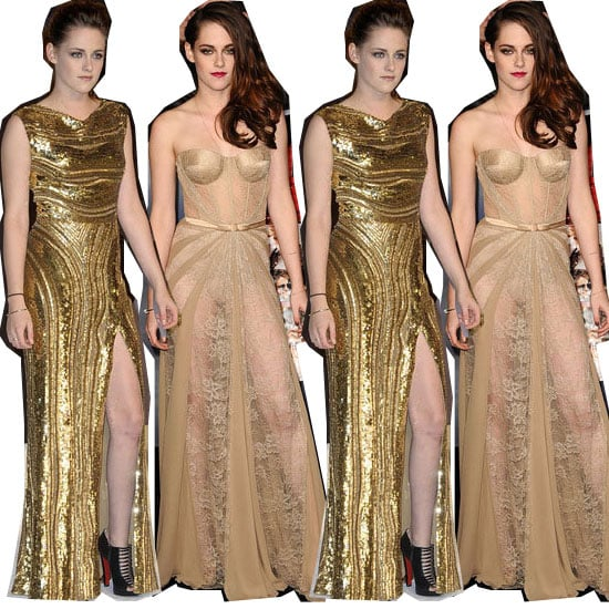Gold Nail Polish to Match Kristen Stewart's Gold Dresses