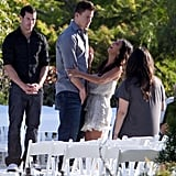 Channing and Jenna shared a laugh at their Malibu, CA, wedding rehearsal in July 2009.