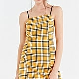 UO Checkered Mini Slip Dress