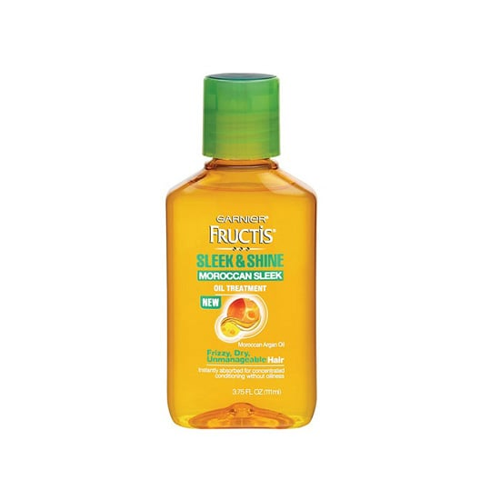 Garnier Fructis Haircare Moroccan Sleek Oil Treatment ($6) coats your hair with argan oil for a frizz-free mane. Try it as a treatment on wet hair, or as a smoothing product on dry hair.