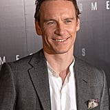 Michael Fassbender smiled at the Prometheus premiere in Paris.