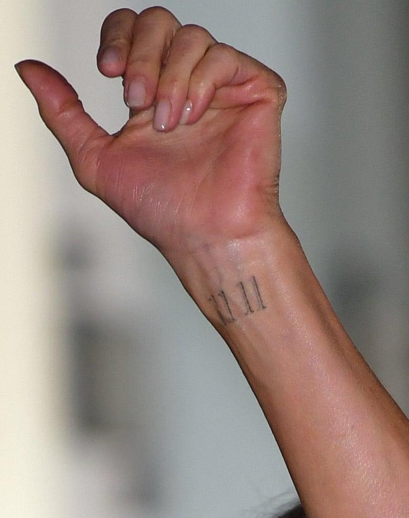 Jennifer Aniston's Wrist Tattoo