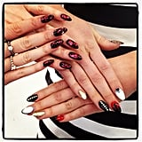 These Catherine Malandrino nails are exactly what we imagine our Valentine's Day manis to look like.