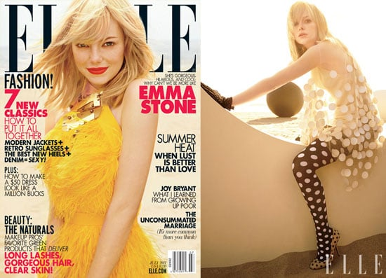 Emma Stone Looks Fine in Feathers and Talks Her Newfound Fame in Elle