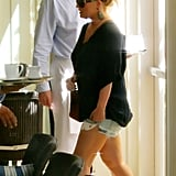 Jessica Simpson wore short shorts.