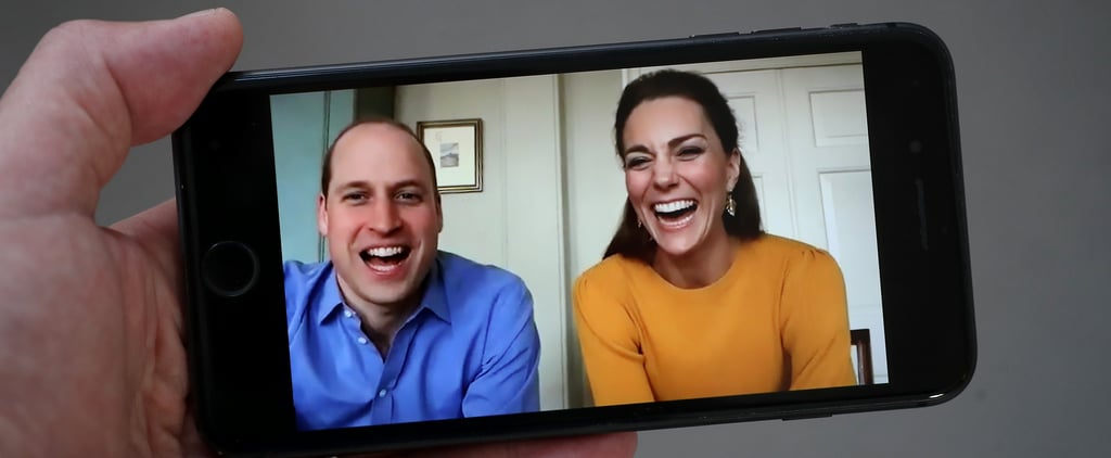 Watch Prince William and Kate's First Video Call Engagement