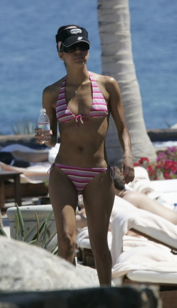 Eva Longoria showed her stripes in Cabo during a March 2005 getaway.