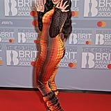 Jorja Smith at the 2020 BRIT Awards in London