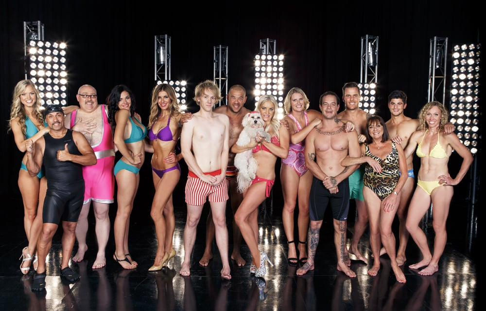 Celebrities have tried things such as dancing, cooking, ice-skating and putting their entrepreneurial skills to the test for the sake of TV entertainment and charity. Now comes Channel Seven's Celebrity Splash, which will see 14 Australian stars performing complicated dives from varying heights of up to 10 metres (with the assistance of professional diving instructors). The show has already been criticised for the danger involved with the main task, and celebrities have already tweeted about their injuries, including comedian Josh Thomas and TV presenter Laura Csortan. Socialite Brynne Edelsten has also expressed her concern of diving from such heights after breast augmentation. In fact, there's already been one casualty — the show won't reveal who's left until tonight, but former world champion power lifter and Gladiators star Derek Boyer has been called in as a last-minute replacement. The rest of the cast includes an assortment of sports stars, eye candy and more comedians. They will be judged by Olympic gold medallist divers Matthew Mitcham and Greg Louganis, and aerial skier Alisa Camplin, who has also won gold for Australia. Click through to see who'll be jumping off the diving blocks. Celebrity Splash premieres tonight at 7:30 p.m. on Channel Seven. Photo courtesy of Channel Seven