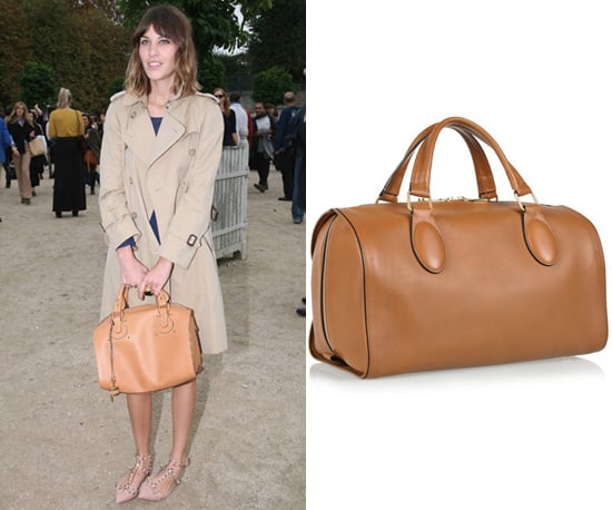 Photos of Alexa Chung in Paris with Chloe Handbag